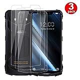 QFSM 3 Pack Película Protectora para DOOGEE S90, Resistente al Desgaste Protector de Pantalla para teléfono móvil Vidrio Templado