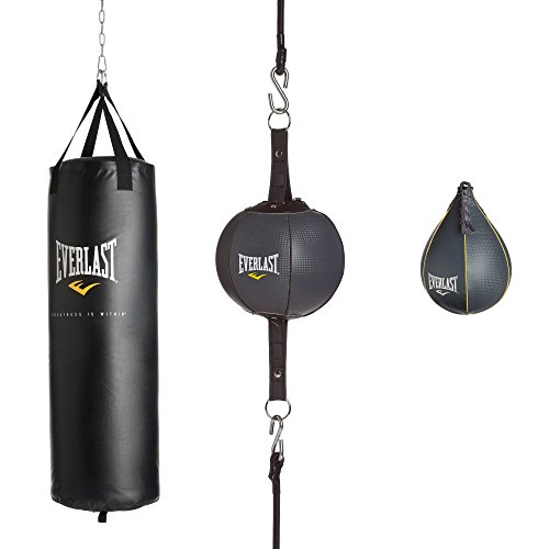 Everlast 100Lb 3Piece Heavy Bag Kit 100 Lb 3Piece Heavy Bag Kit, Black, 100lbs