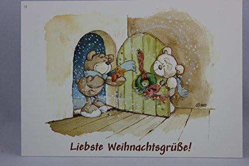 Nici - 60243 - Postkarte, Nr. 14, Weihnachten, Bären, Liebste Weihnachtsgrüße!