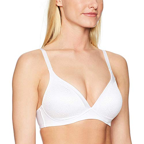 Warner's Women's Blissful Benefits Back Smoothing Wirefree Lift, White, 38B
