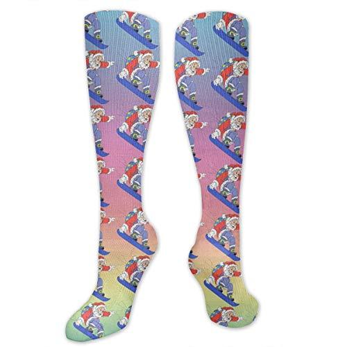 Calcetines Altos ~ Calcetines Calcetines de dibujos animados de Papá Noel alegre Calcetines deportivos Calcetines de regalo personalizados Calcetín 50CM