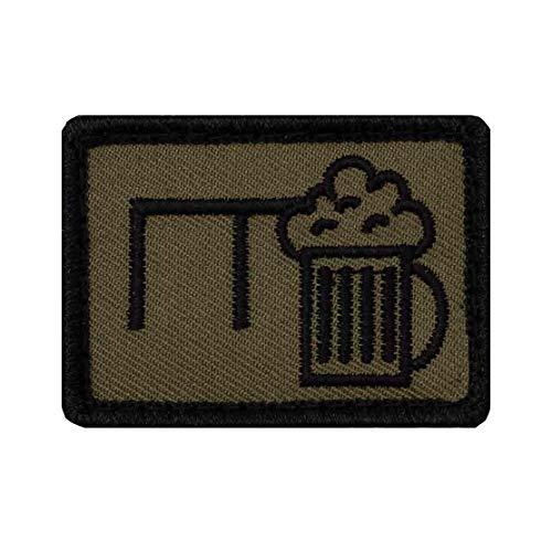 Café Viereck ® Bundeswehr Lustige Bier Taktik Zeichen Pionier Gestickt mit Klett - 5 cm x 3,5 cm