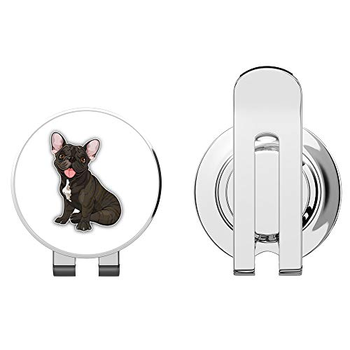 888 Graphics Cute French Bulldog Golf Hat Clip with Magnetic Ball Marker
