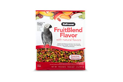ZuPreem FruitBlend Flavor Pellets Bird Food for Large Birds, 3.5 lb Bag - Powerful Pellets Made in The USA, Naturally Flavored for Amazons, Macaws, Cockatoos (3.5 lb Bag)