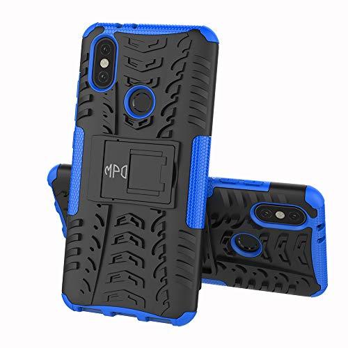 Max Power Digital Funda para Xiaomi Mi A2 con Soporte Protección 360 Grados 2 en 1 Carcasa Dura Resistente Antigolpes Heavy Duty Rugged Armor Case (Xiaomi Mi A2, Azul)