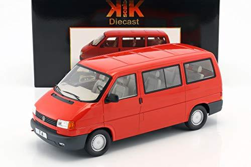 KK-Scale Volkswagen VW T4 Bus Caravelle Baujahr 1992 rot 1:18