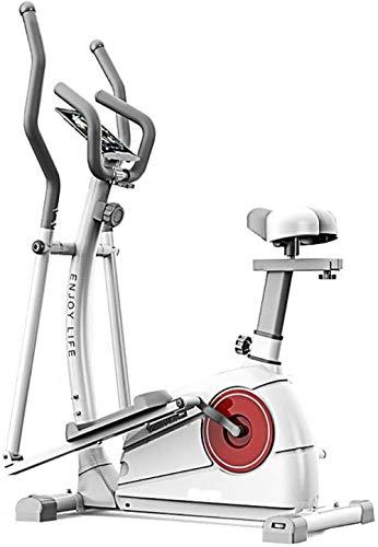 Bicicleta elíptica 2 en 1 Cross Trainer elíptica, entrenamiento cruzado, fitness, cardio, peso y con asiento para uso doméstico