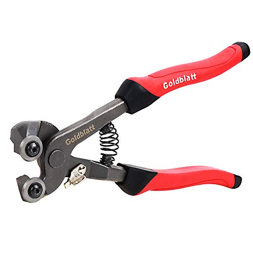 Goldblatt G02007 Glass Tile Nippers With Pro-Grip Handle