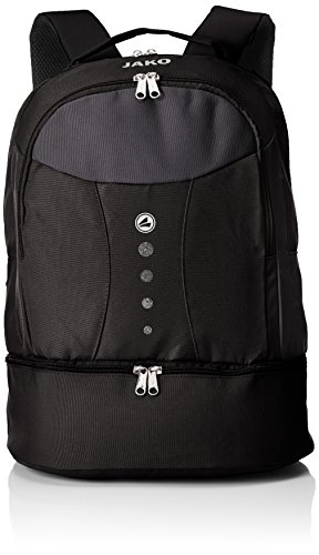 JAKO Herren Striker Rucksack, schwarz, 34 x 21 x 46 cm