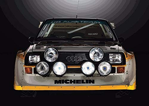 LunBrey Audi Sport Quattro S1 Rally Car Giant Wall Art Print Picture Poster G1221