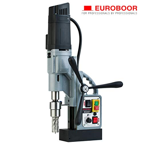 Great Price! EUROBOOR Magnetic Drill Press – 1600W / 14.5A Portable Drilling Machine with 2-3/16″ Annular Cut Capacity & Digital Readout – ECO.55-T
