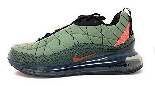 Nike Herren Mx-720-818 Laufschuh, Negro/Rojo Universitario/Gris Humo Claro/Naranja Magma, 40 EU