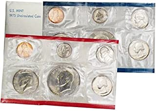 1975 US 12 Piece Mint Set In original packaging from US mint Uncirculated