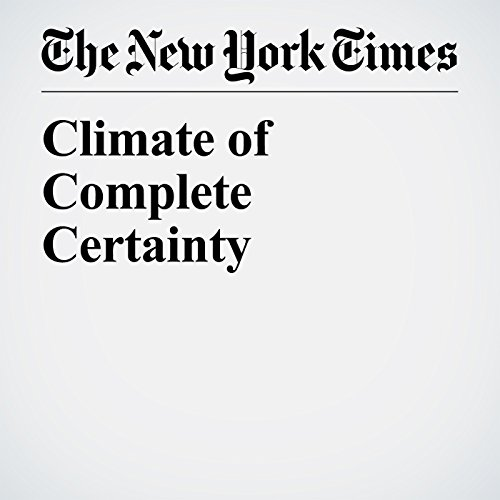 Climate of Complete Certainty copertina