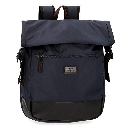 Pepe Jeans Lambert Anpassbarer Laptop-Rucksack Blau 33x44x15 cms Polyester 15,6