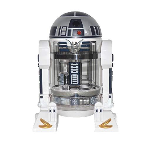 QHYY Ménage Main Punch café Wars Machine étoile R2-d2 Café Presse Pot Percolateur Mini Machine à café Isolation Pot