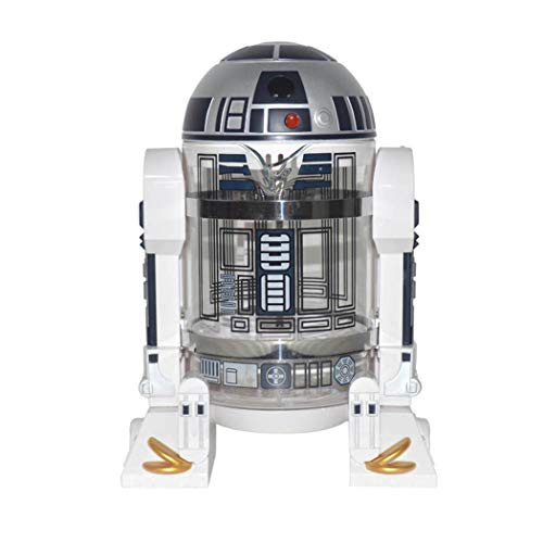 QHYY Haushalts-Handschlags-Kaffee-Maschine Star Wars R2-D2 Kaffee Press Pot Percolator Mini-Kaffee-Maschine Isolierung Topf
