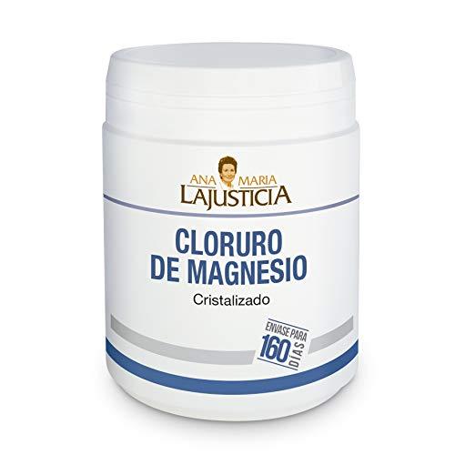 Ana Maria Lajusticia - Cloruro de magnesio – 400 gr. Disminuye el cansancio y la fatiga, mejora el funcionamiento del sistema nervioso. Apto para veganos. Envase para 160 días de tratamiento.
