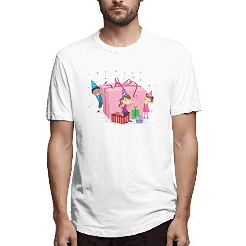 Hemd Muttertag Kind Wunsch Clip Art Cartoon Geschenk Geschenkbox Material Aafdd Herren Baumwolle lässig T-Shirt