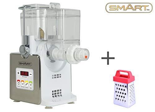 Máquina para hacer pasta Smart SPM3000 totalmente automática con minirrallador incluido. Para elaborar tu propia y deliciosa pasta fresca casera, como espaguetis, tallarines, fideos y más