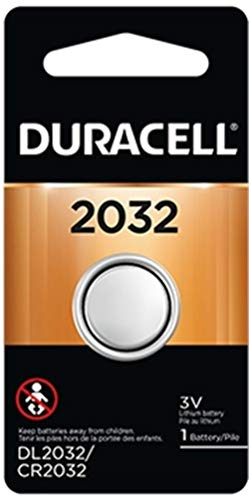 Price comparison product image Duracell DL2032 Lithium Coin Battery,  2032 Size,  3V,  230 mAh Capacity (Case of 6)