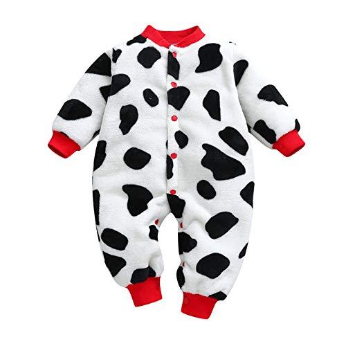 Wekdeg Overall für Kinder, Neugeborene Baby Mädchen Jungen drucken Dicke warme Spielanzug Strampler Kleidung