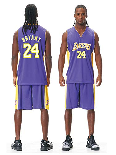 Kinder Herren NBA Basketball Trikots Set - Bulls Jordan 23, Lakers 23 James/24 Bryant, Warriors 30 Curry/35 Durant Basketball Jersey Uniform: Mesh Weste Shirt + Sommershorts