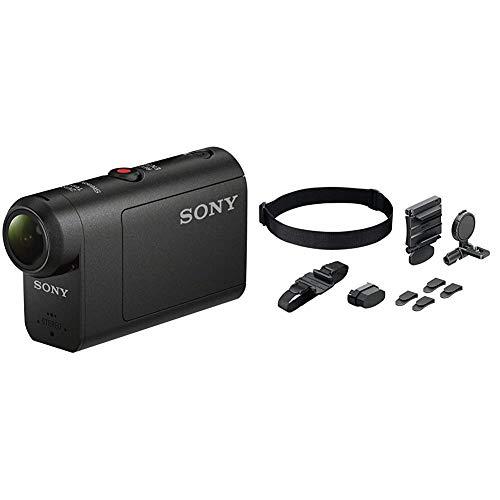 Sony HDRAS50B, Videocámara, Negro + BLT-UHM1Kit de Montaje Universal para Action CAM