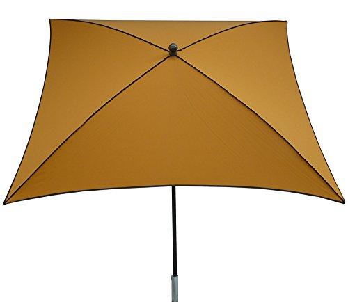 PEGANE Parasol carré centré Coloris Maïs - Dim : H250 x 200 x 200/4 cm