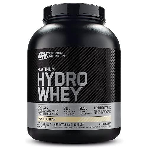 Optimum Nutrition Platinum Hydro Whey, Proteine Idrolizzate di Siero di Latte, Vaniglia, 40 Porzioni, 1,6 kg, il Packaging Può Variare