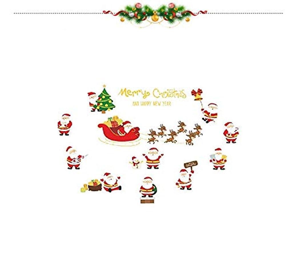 アナニバーサーフィンに同意するPichidr ウォールステッカー クリスマス クリスマス 飾り 剥がせる シール式 装飾 ツリー 壁紙 雑貨 ガラス 窓 DIY サンタ 部屋 店舗装飾