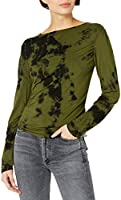 KENDALL + KYLIE Women's Marbled Ruched Top - Amazon Exclusive