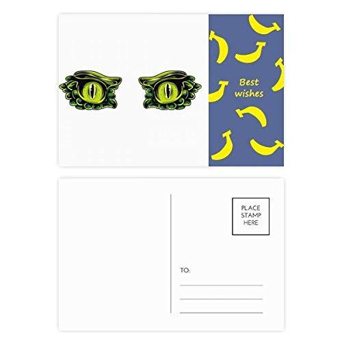 Cartoon-Monsteraugen-Dekoration, Bananen-Postkarten-Set, Danksagungskarte, Postkarte, Seite 20 Stück