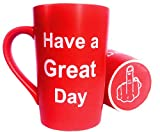 MAUAG Funny Christmas Gifts Coffee Mug Have a Great Day Family Gag Gifts Cup Red, 12 Oz