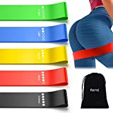Resistance Exercise Bands Set for Booty Workout Bands with Instruction Guide and Carry Bag