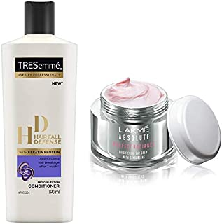 Lakmé Perfect Radiance Fairness Day Creme 50 g & TRESemme Hair Fall Defense Conditioner, 190ml