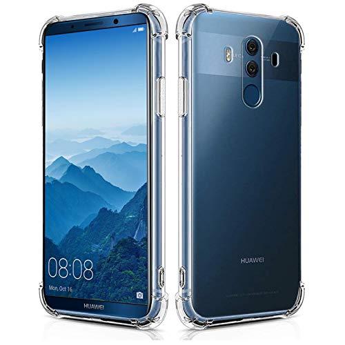 Verco Handyhülle für Huawei Mate 10 Pro, Anti Shock Schutzhülle für Huawei Mate 10 Pro Hülle Silikon [Bildschirm- und Kameraschutz] Weiche Flexible TPU Hülle, Transparent