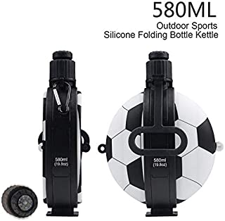 YFP Healthy Water Bottle in Football Shape, BPA Free, FDA Approved Food-Grade Silicone, 580 ml, for All Sports, Leak and Shock Proof. Steel The Show with This Outstanding Design!