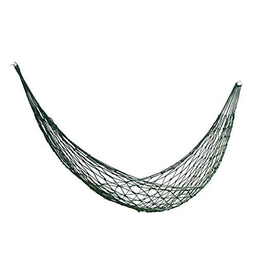 Hamac balançoire en Plein air lit Net Camping Pause déjeuner siège Berceau Chaise Mesh Doux résistant à l'usure Jardin Pliable (Color : Green, Taille : 220 * 90cm)