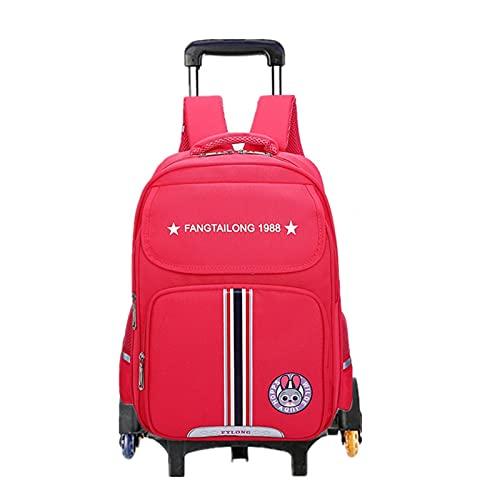 FBSSD Mochila para niños, con seis ruedas, para escalar, unisex, para exteriores, impermeable, extraíble, para niños