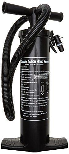 Blueborn HDP 2 L Doppelhubpumpe Luftpumpe Handpumpe Pumpe 3 Luftdüsen Aufsätze