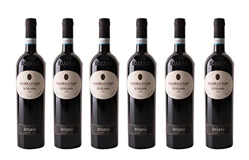 Kit'Sovrana' Confezione da 6 Bottiglie:Batasiolo Barbera D'Alba DOC Sovrana 2019, Vino Rosso, Fermo, Secco, Balsamico.