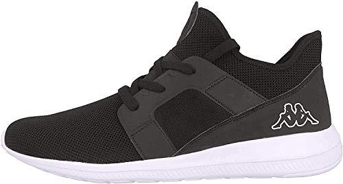 Kappa Unisex AMUN II KNT Sneaker, Schwarz (Black/White 1110), 41 EU
