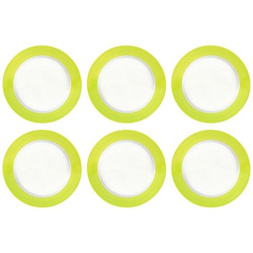 6er-SET Flirt by RundB Serie: Doppio grün Frühstücksteller ø 20,5 cm