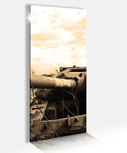 Acrylglasbild 40x100cm Panzer russisch Sepia Tank Waffe Acrylbild Glasbild Acrylglas Acrylglasbilder 14A2576, Acrylglas Größe2:40cmx100cm