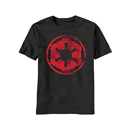 STAR WARS Aging Empire Symbol T-Shirt - Black (Large)