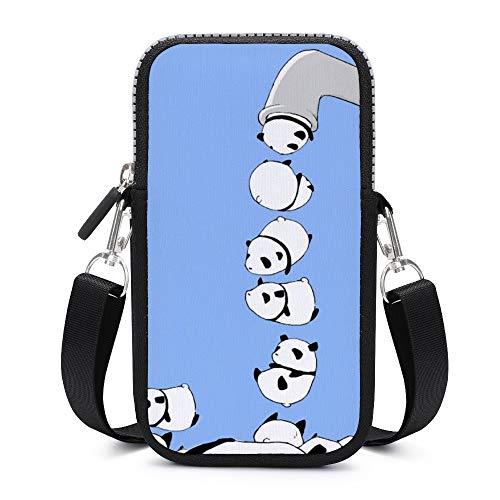 Bolso bandolera para teléfono móvil con correa para el hombro extraíble grifos pandas anticaída funda para llavero, cartera para hombre