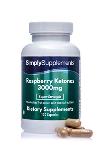 Raspberry Ketones 3000mg 120 Capsules | Vegan & Vegetarian Friendly | Manufactured in The UK