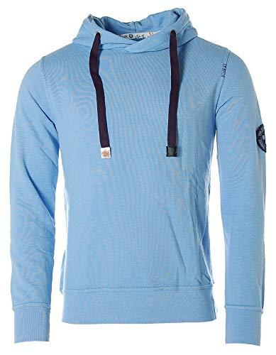 St. Moritz Herren Sweatshirt Sweater Hoodie Kapuze The Worlds´s Best Sailors Sky Blue M