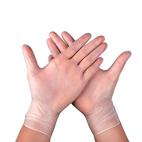BILGFTG 100 PCS Wegwerp Pvc Handschoen, Boxed Poeder-Gratis Keuken Koken Veiligheid Voedsel Antivirus Outdoor Thuis Schoonmaak Werk Handschoenen - Voor Thuis Eten Laboratorium Gebruik